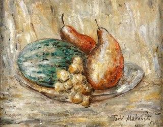 Owoce na talerzu, ok. 1923