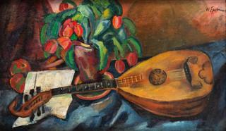 Martwa natura z mandoliną, lata 20. XX w.