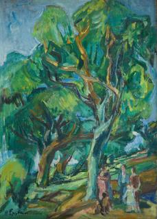 """""""Pejzaż leśny"""" (""""Paysage en foret""""), lata 30. XX w."""