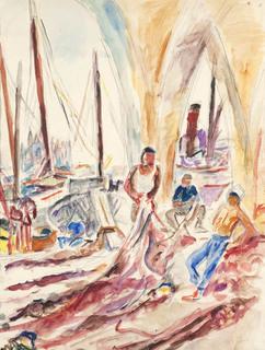 Rybacy, lata 30. XX w.