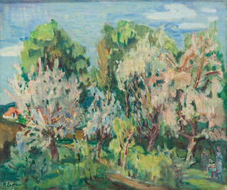 Pejzaż z drzewami, po 1937