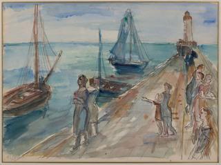 Port w Quiberon, lata 30. XX w.