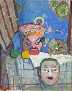 Kompozycja z chińskimi maskami, 1955