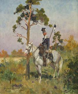 Ułan na koniu, 1921