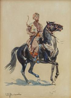 Jeździec turecki na koniu