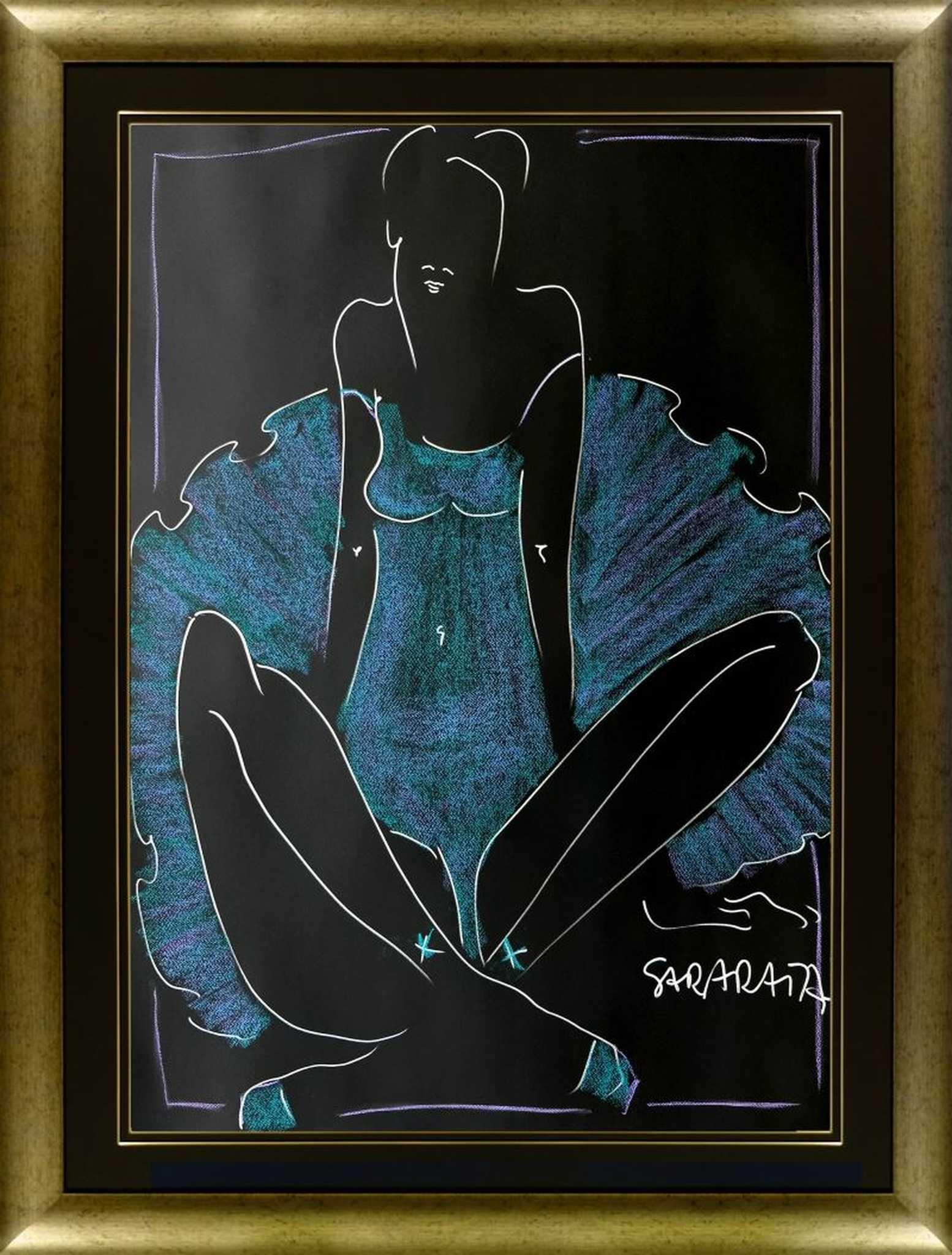 Portret niebieskiej balleriny, 2021