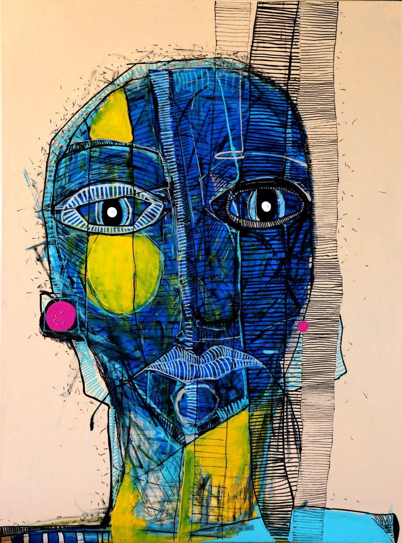Portret niebieski - zasupłane, 2020 r.