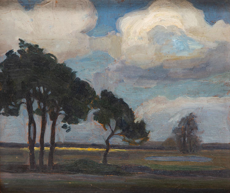 """""""Sosny i sadzawka"""", około 1920"""