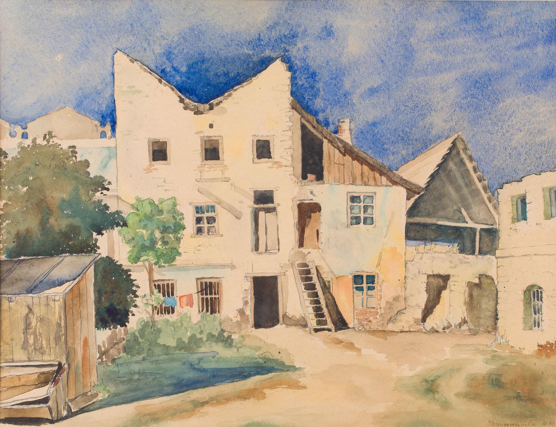 """""""Stare domy w Kazimierzu"""", 1949"""