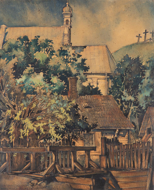Kościół św. Anny i Góra Trzech Krzyży w Kazimierzu Dolnym, 1950