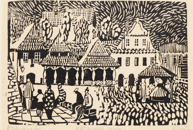 Południowa pierzeja rynku w Kazimierzu Dolnym z Kamienicą Gdańską