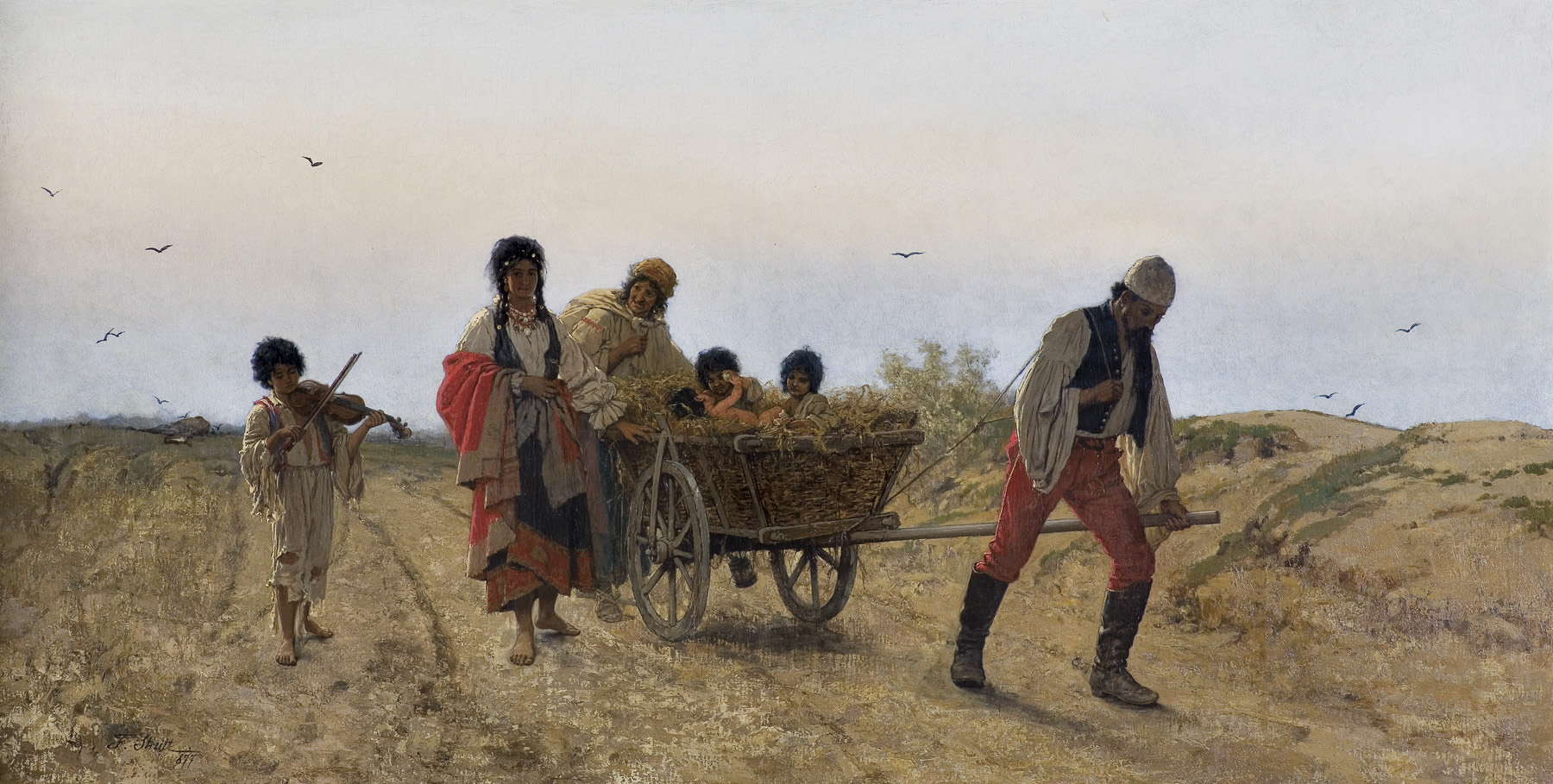 CYGANIE W DRODZE, 1877