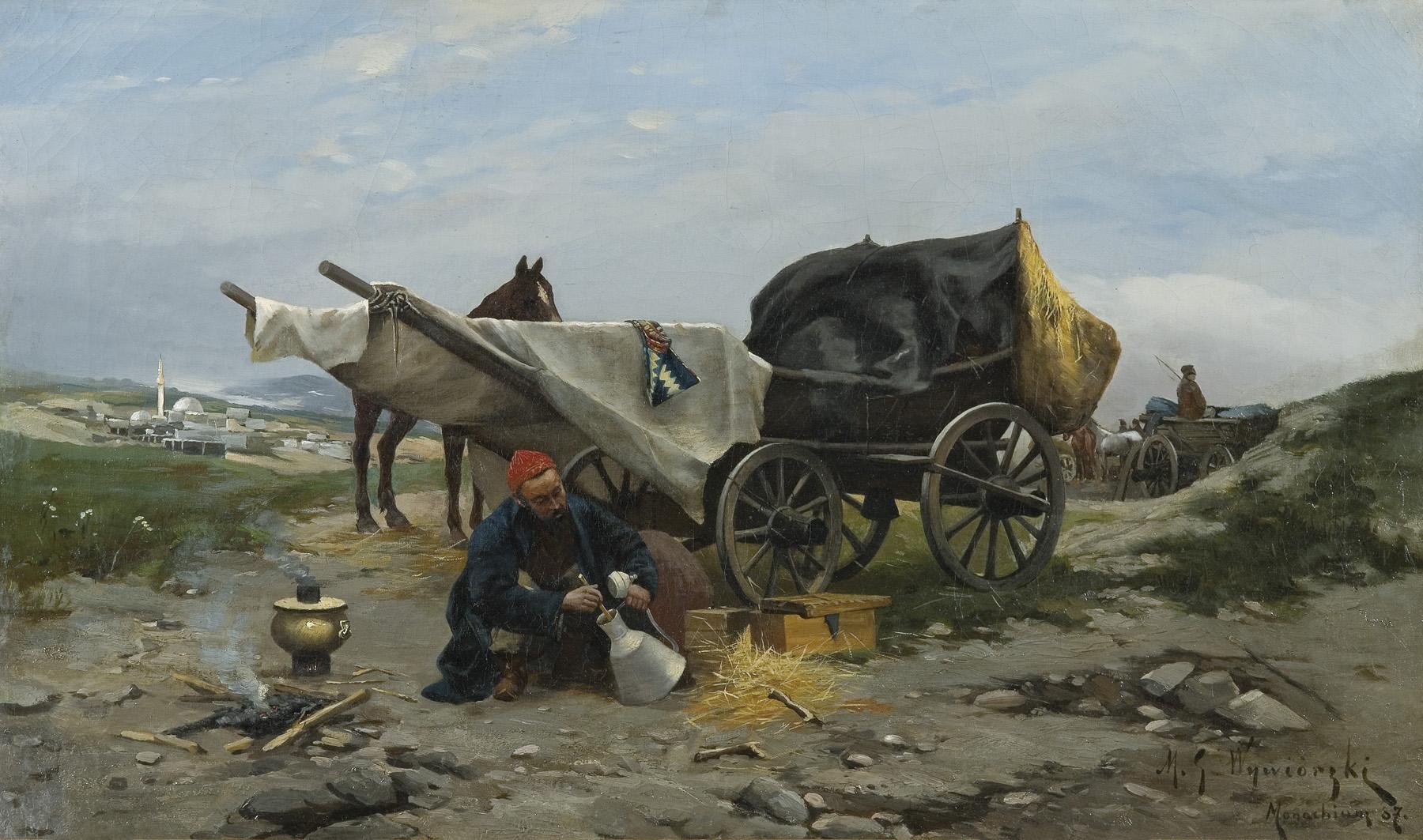 ODPOCZYNEK W DRODZE, 1887