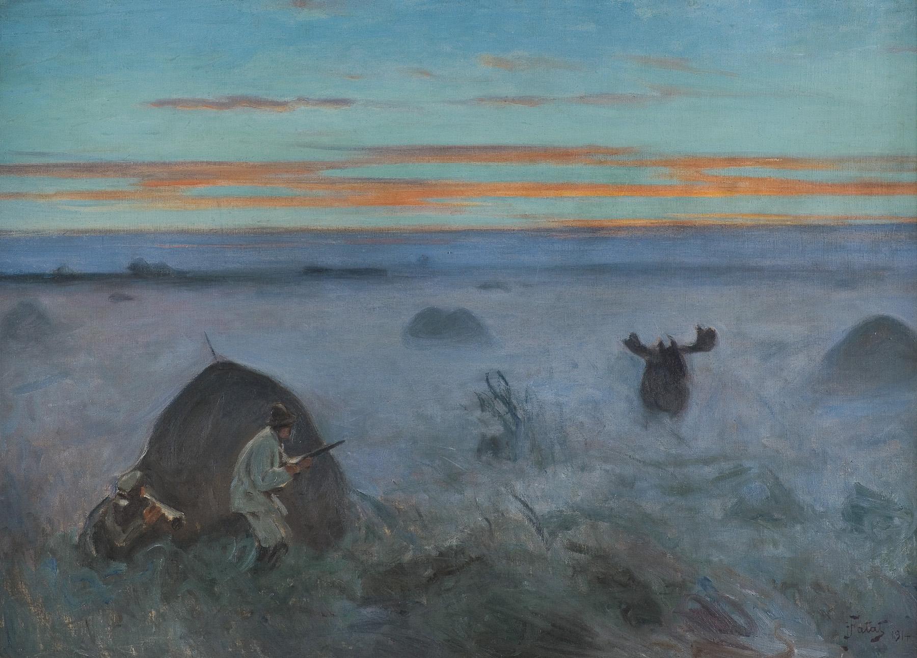 POLOWANIE NA ŁOSIA, 1914