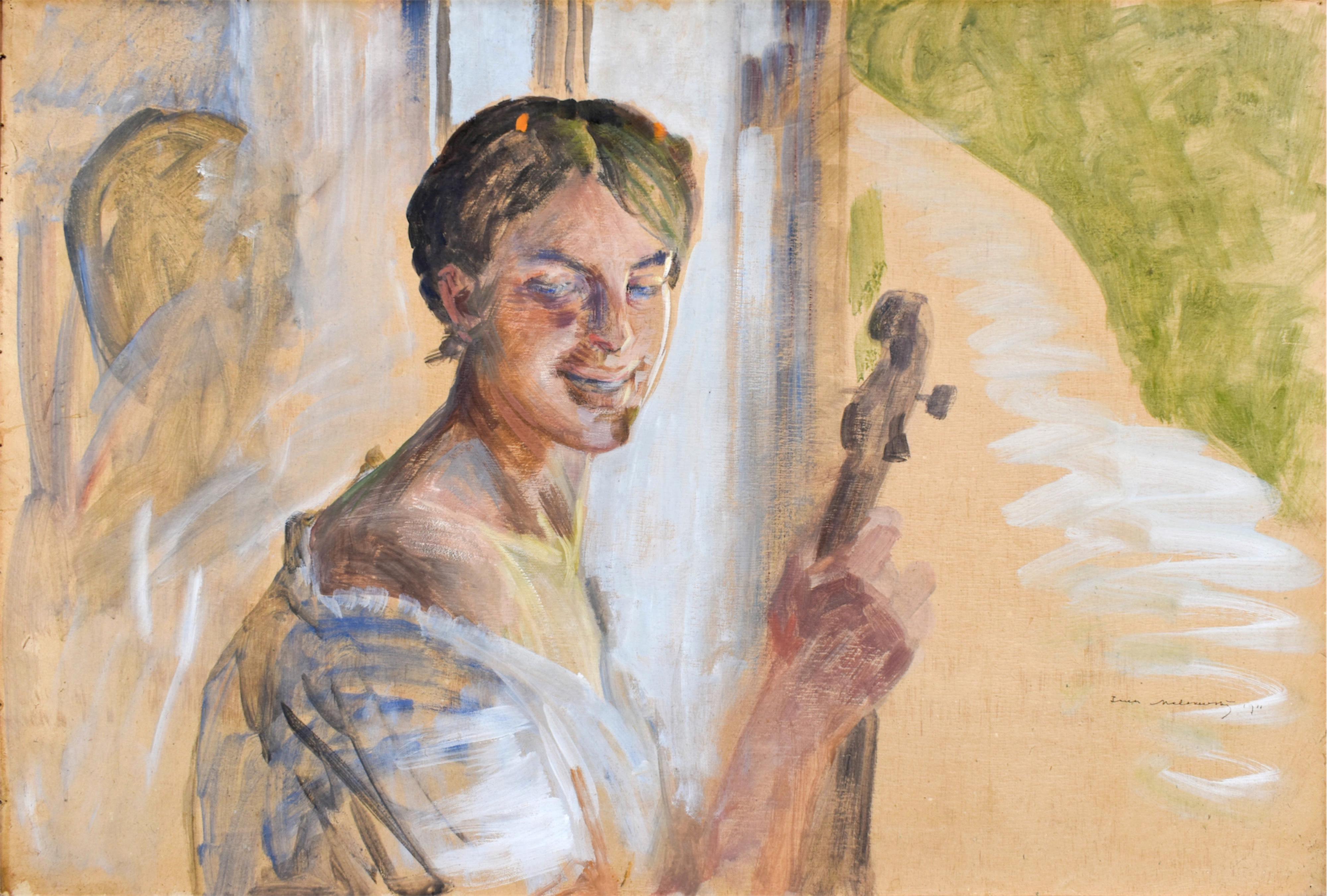Portret dziewczyny z wiolonczelą, 1911