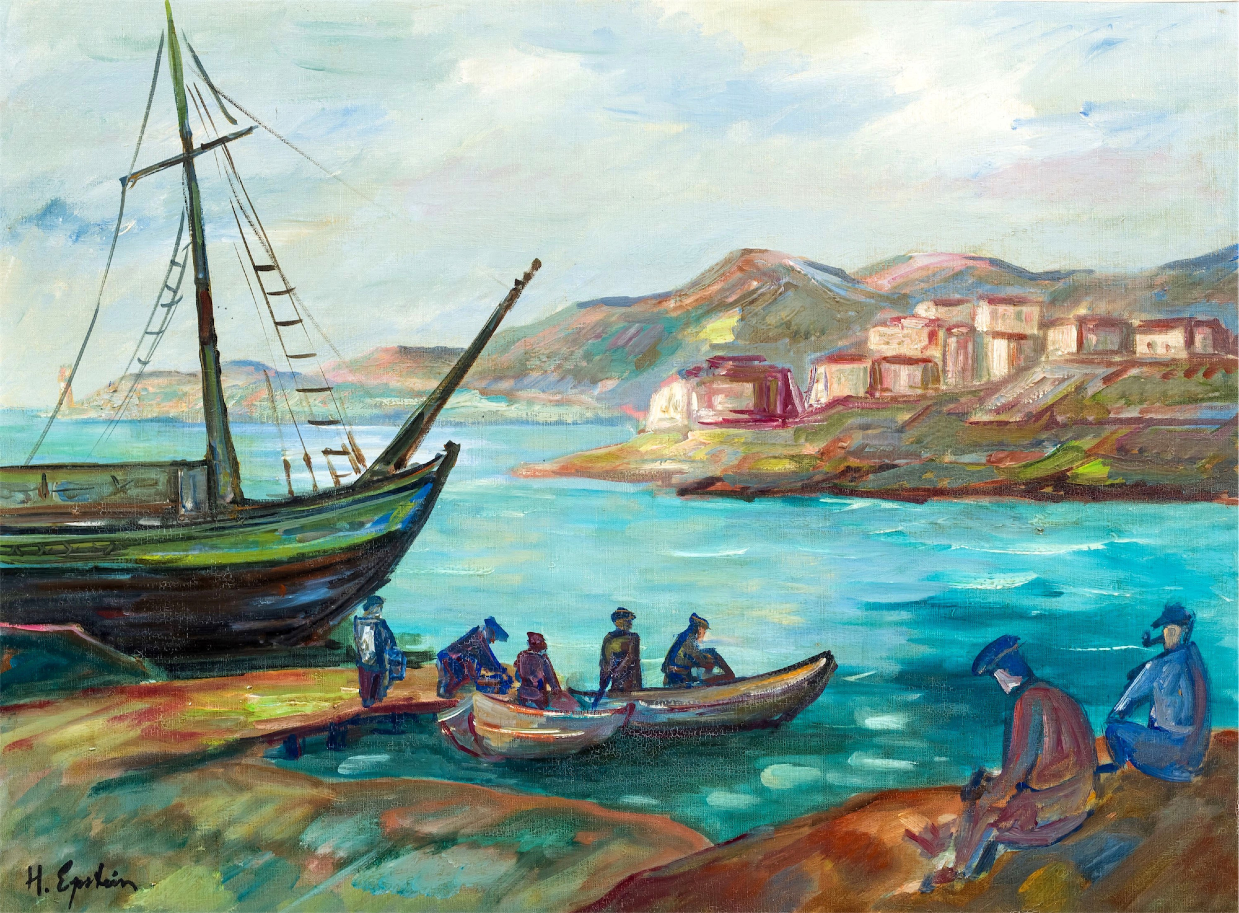 Powrót rybaków, około 1927-1930