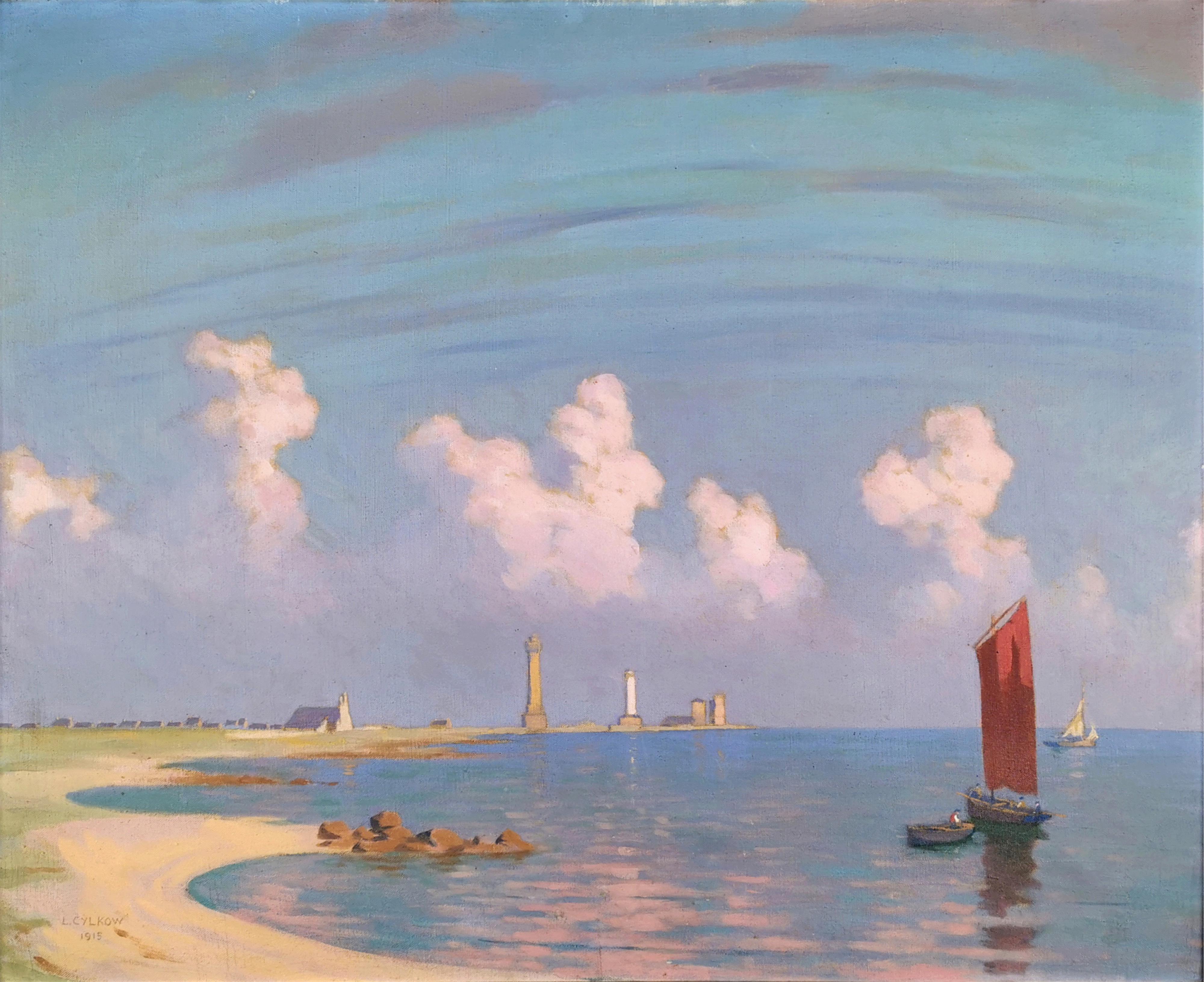 Pejzaż z łódkami, 1915