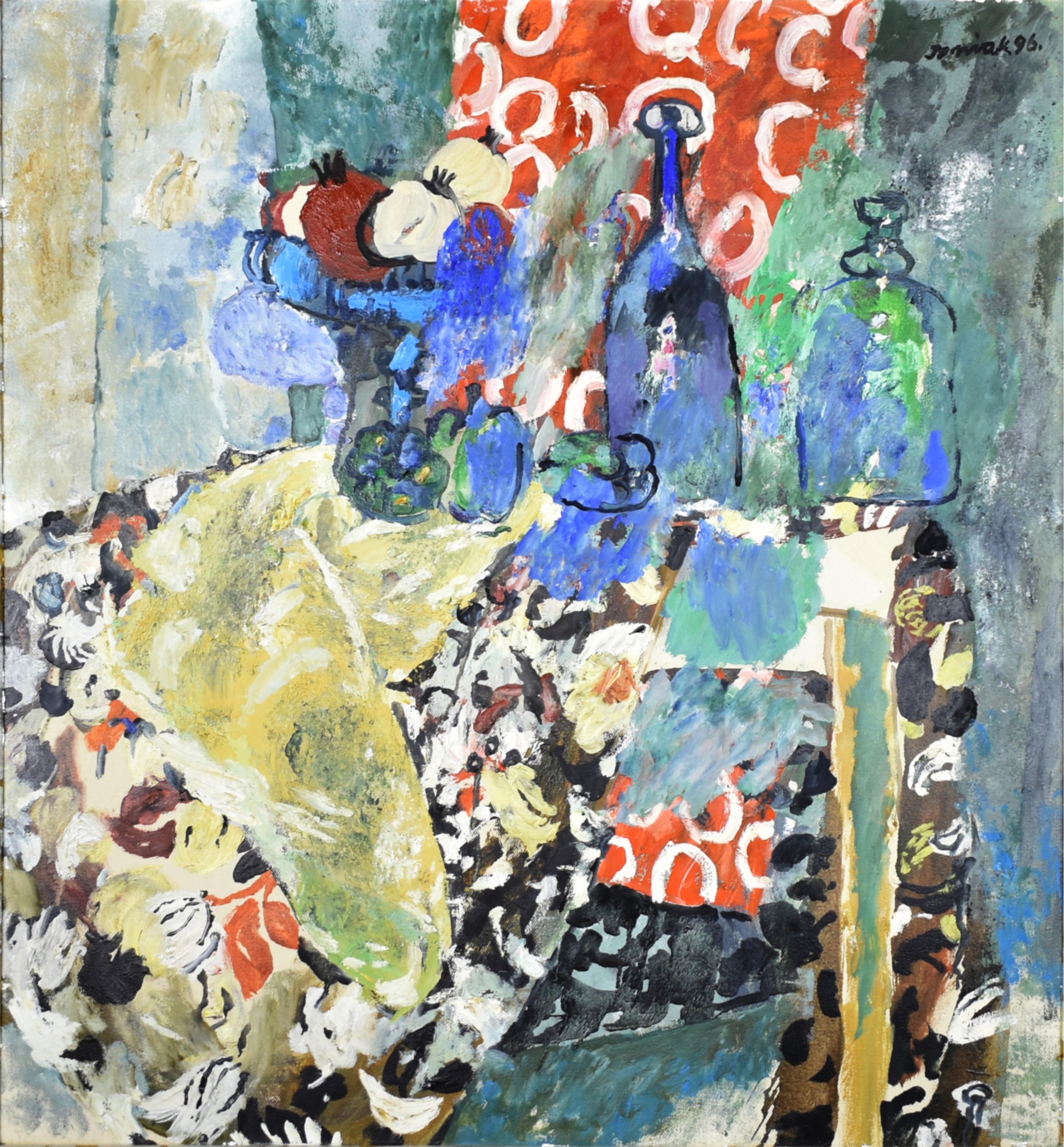 Martwa natura z żółtą draperią, 1996