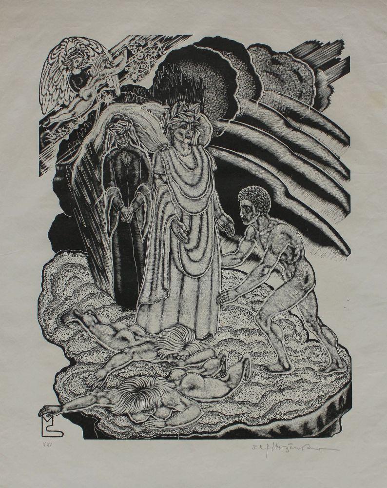 """Ilustracja do """"Boskiej komedii"""" Dantego. Czyściec, Pieśń XXI"""
