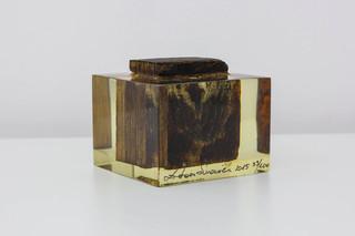 Przedwojenna, drewniana kostka podłogowa z pomieszczeń dawnej Fabryki Schindlera, ed. 33/100