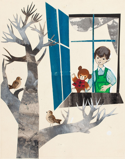 """Gromadka Misia Uszatka"", ilustracja, 1963"