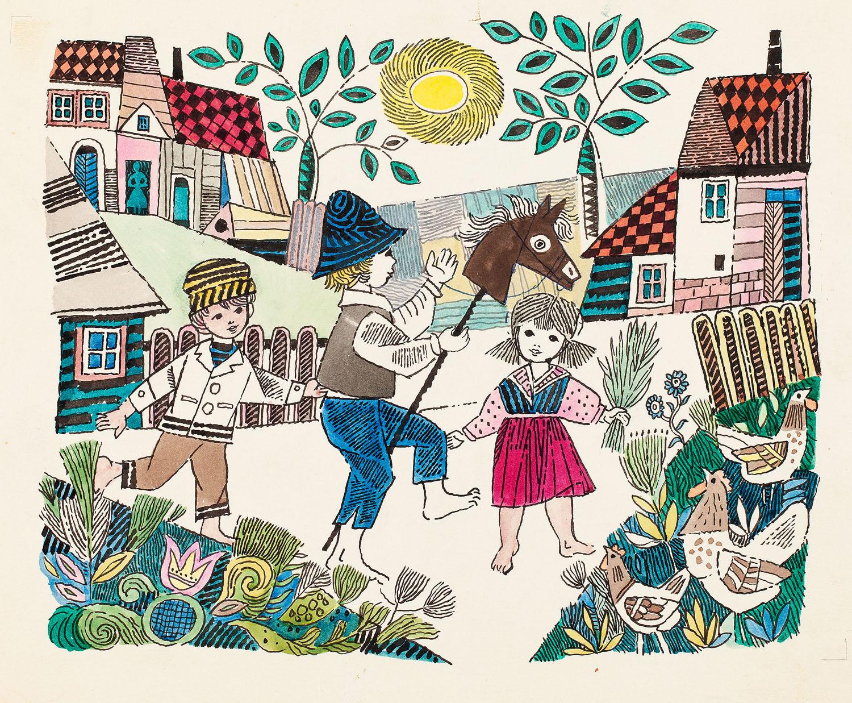 """""""Polski roczek"""", ilustracja, 1964"""