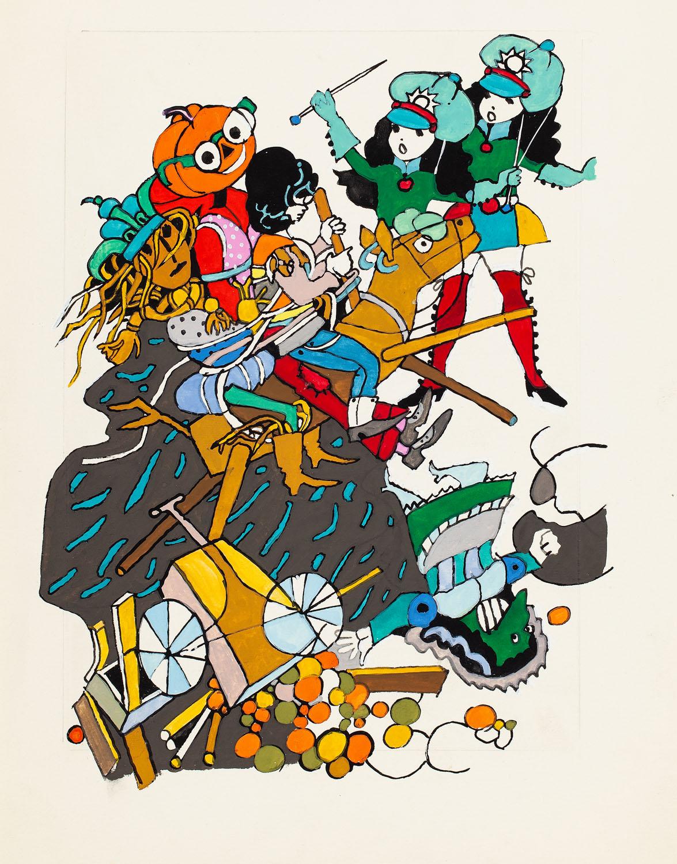 """""""W krainie czarnoksiężnika Oza"""", ilustracja, 1973"""