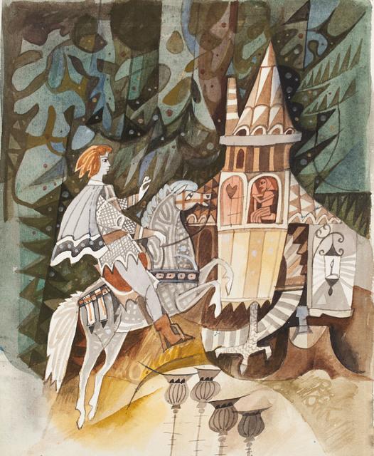 """""""U złotego źródła. Baśnie polskie"""", ilustracja, 1967"""