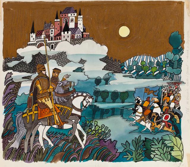 """""""O Królu Arturze i Rycerzach Okrągłego Stołu"""", ilustracja, 1979"""