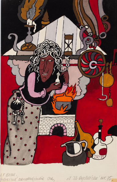 """""""W krainie czarnoksiężnika Oza"""", ilustracja, 1975"""