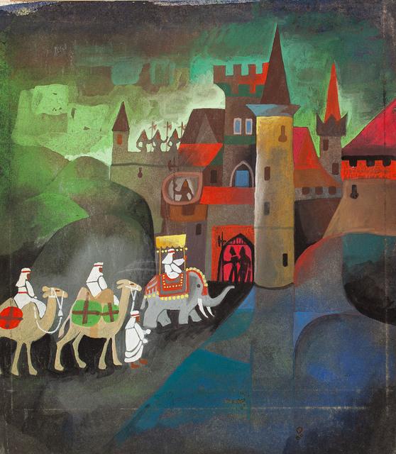 """""""Przedziwna historia o Zbójniku Ondraszku"""", ilustracja, 1963"""