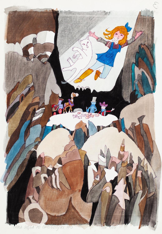 """Dorota i Oz znowu razem"", ilustracja, około1978"
