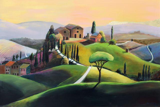 Golden hour II z cyklu Toskania, 2020