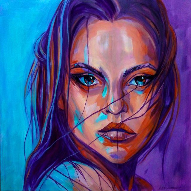 Girle in Purple rain, 2021
