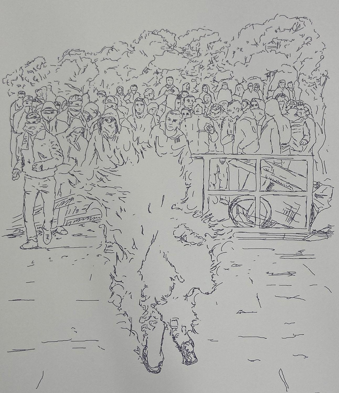"""The Self-Burning of Mohammed Bouazizi"", 2018"