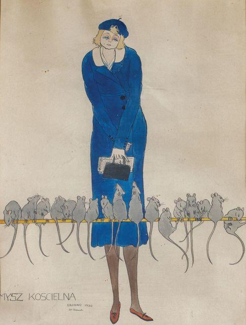 MYSZ KOŚCIELNA – PORTRET MARII CHMURKOWSKIEJ, 1930