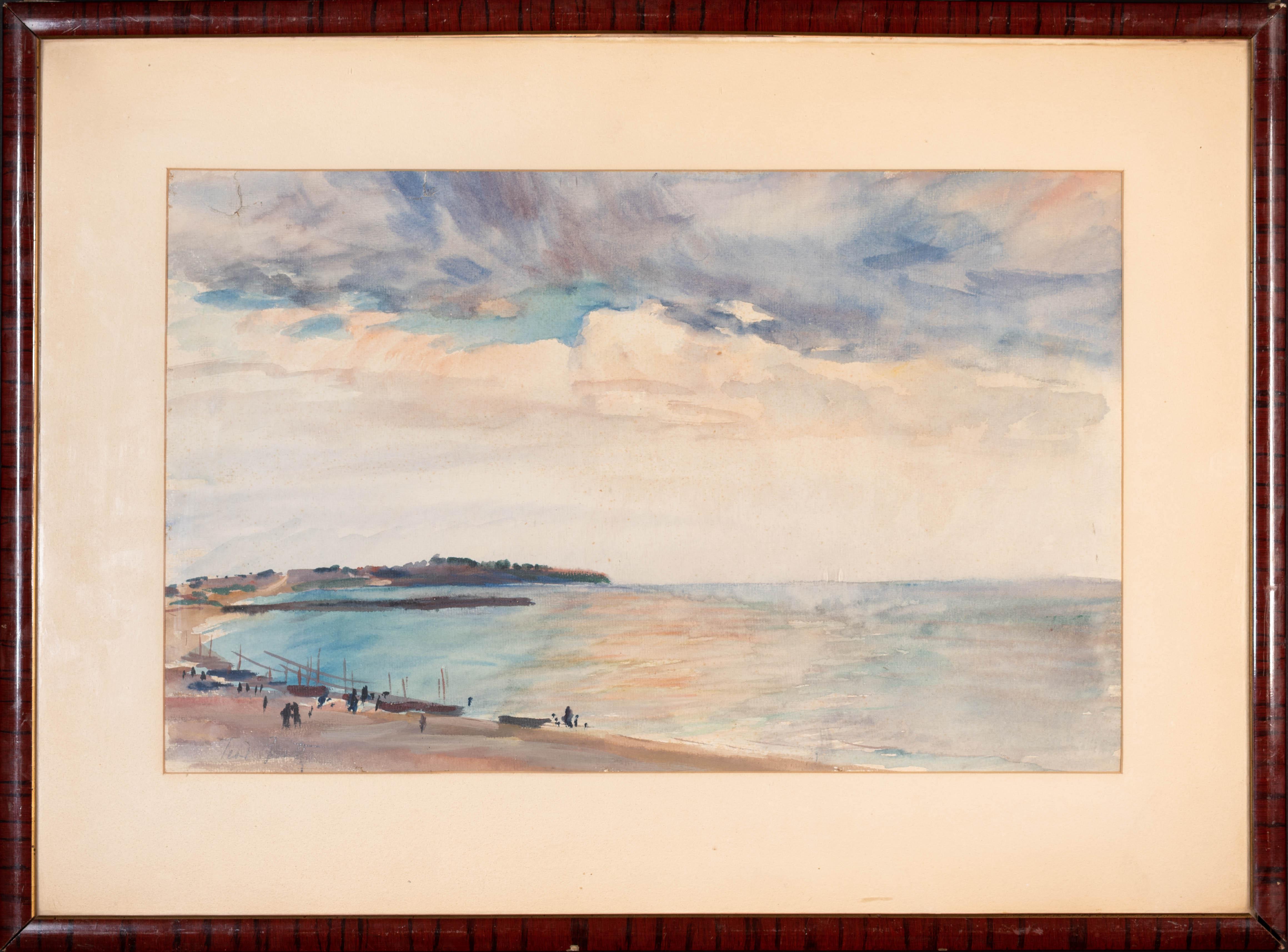 Pejzaż z zatoką, około 1930 r.