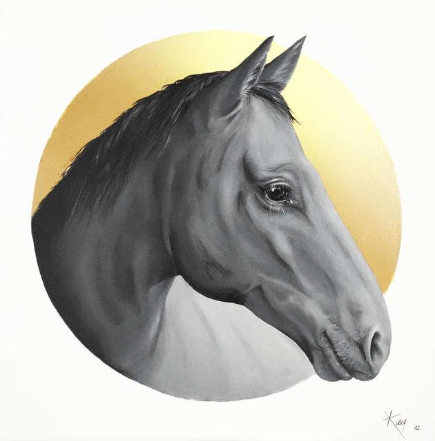 Koń, z cyklu: Gold Made Animal, 2021