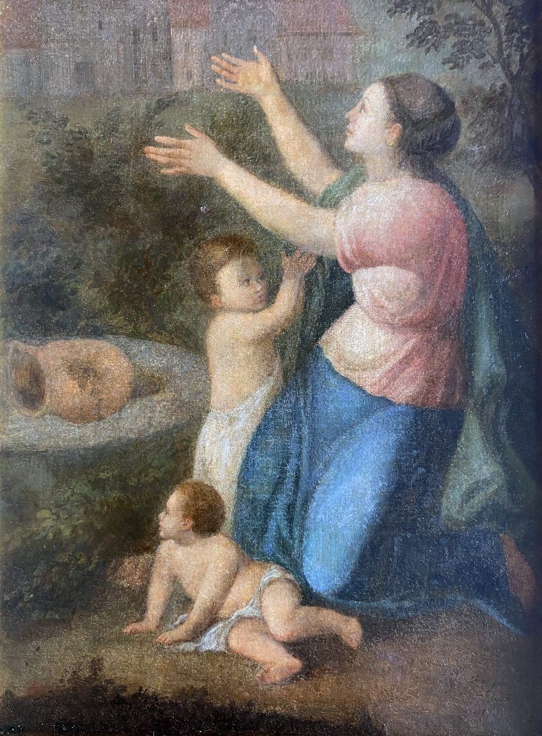 Scena alegoryczna z matką i dziećmi przy studni, 1817
