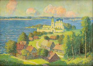Krajobraz z cerkwią