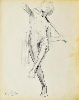 Studium rzeźby nagiego mężczyzny (Paryż)