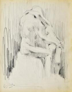 """Szkic rzeźby """"Pocałunek"""" Auguste'a Rodina (Paryż, Musee Rodin)"""