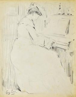 Kobieta przy pianinie