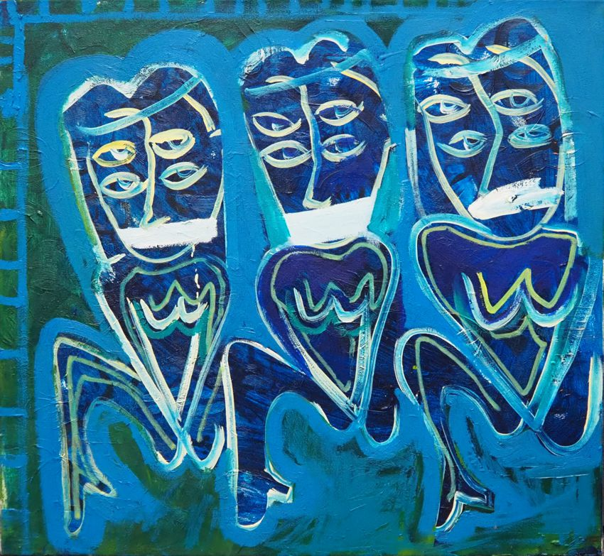 Trzy maski, 2020 r.