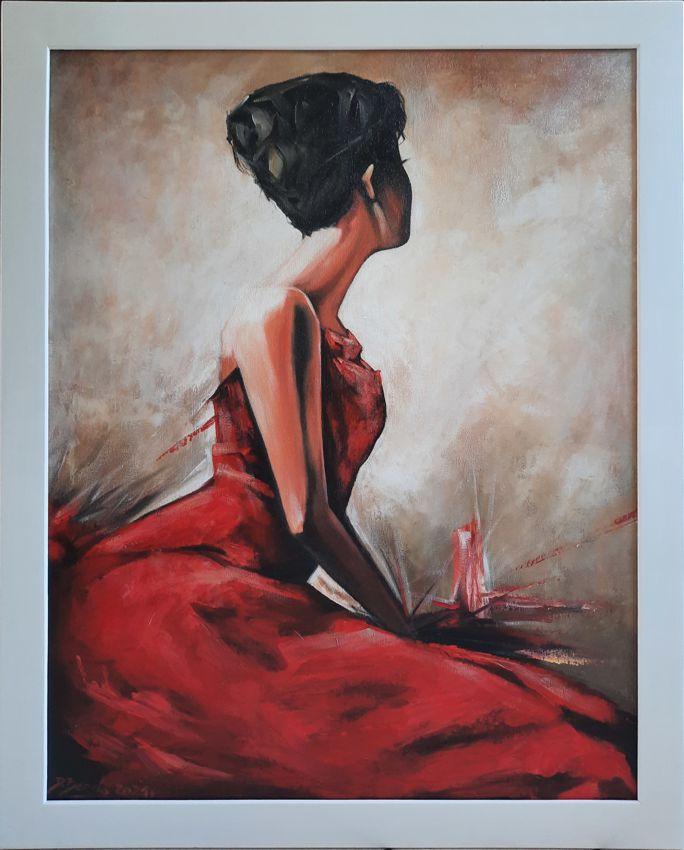 Dziewczyna w czerwonej sukience, 2020 r.