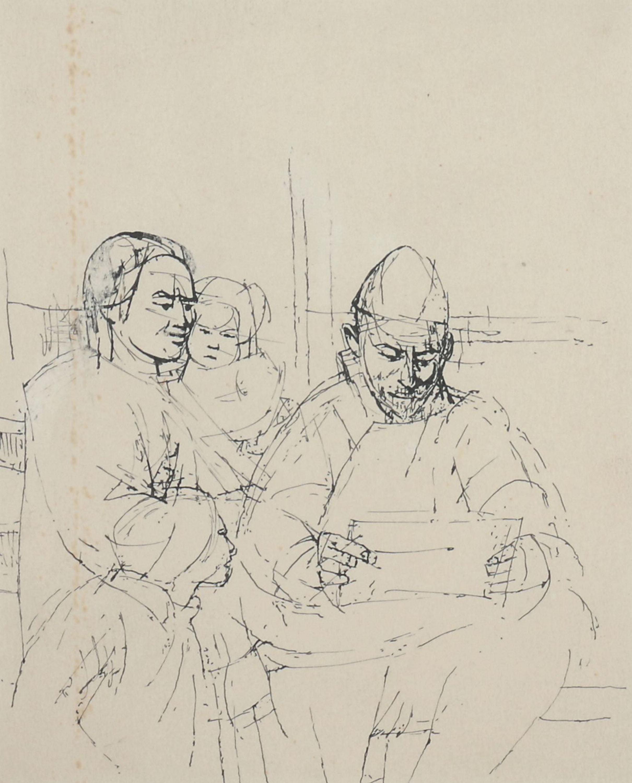 Rodzina czytająca list