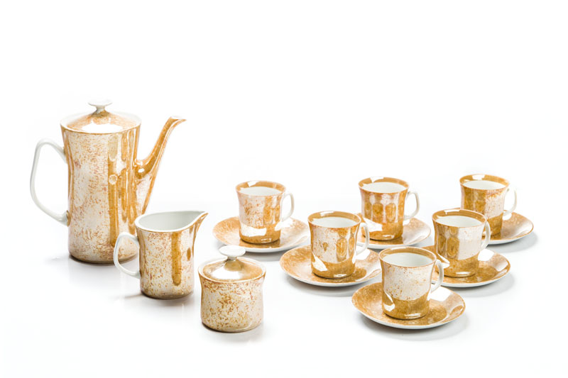 Serwis kawowy dla 6 osób, lata 70. XX w.