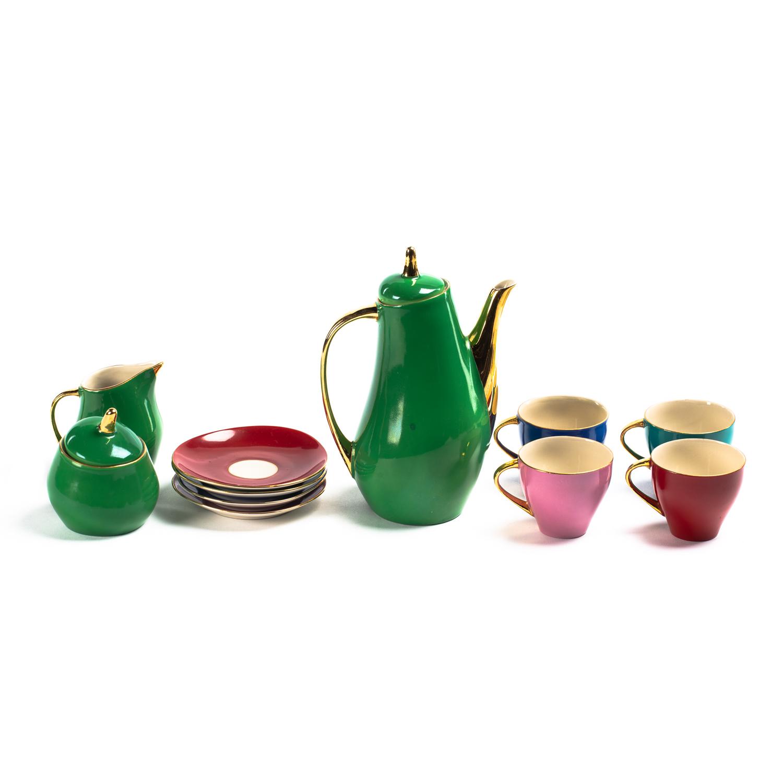 Zestaw kawowy 'Ewa' dla 4 osób, lata 60. XX w.