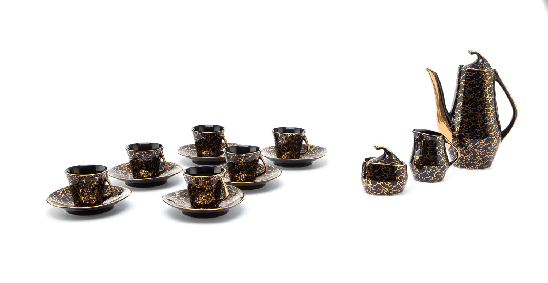 Serwis kawowy 'Iza' dla 6 osób, lata 60. XX w.