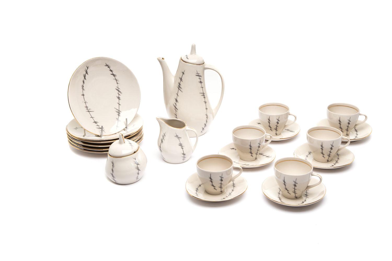 Serwis kawowy 'Ewa' dla 6 osób, lata 60. XX w.